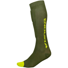 Endura SingleTrack Chaussettes protège-tibia, forestgreen